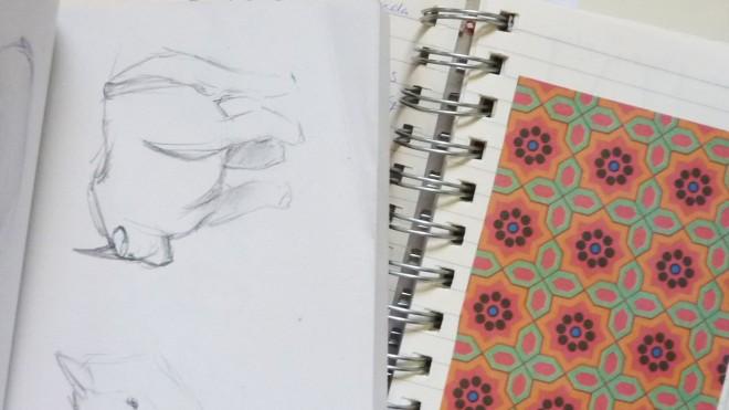 Sketch and notebook for keeping inspiration save