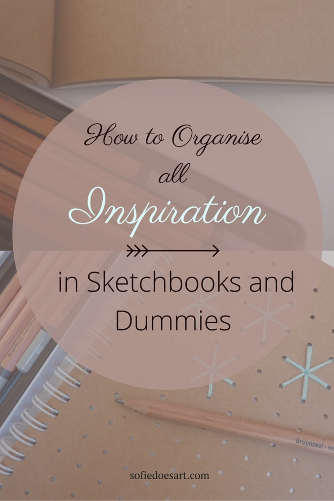 How to organise all inspiration in sketchbooks and dummies // capture all your ideas in a system of drawings