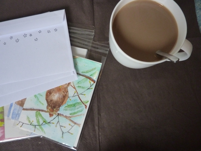 organising products and coffee - creative entrepreneur