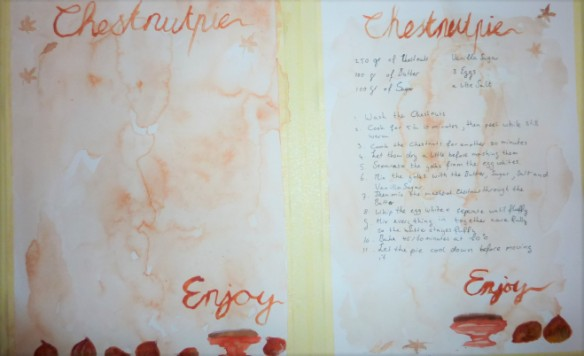 Chestnut pie illustrations + free printable!