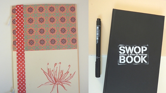 swopbooks and homemade sketchbook // keep inspiration and ideas organised