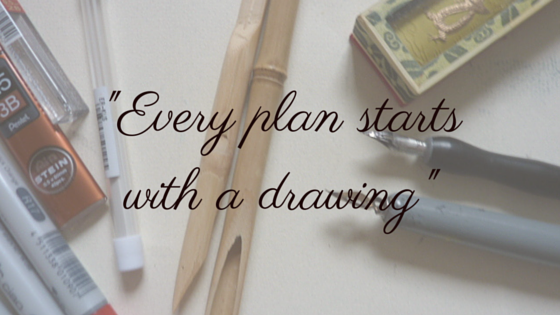Every plan starts with a drawing quote and motivation