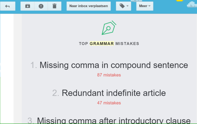 Grammarly repport