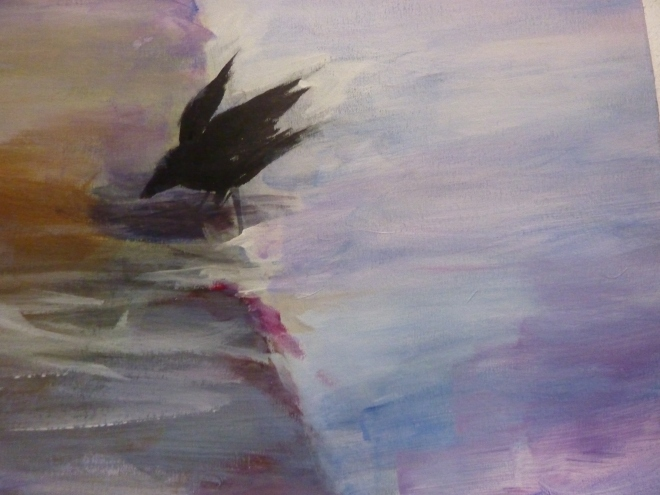 little crow from my painting