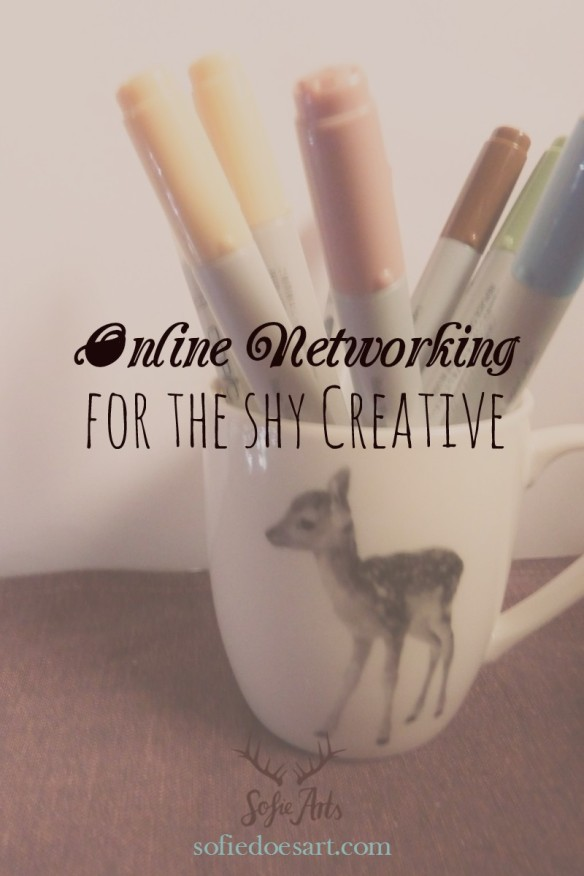 Online networking for the shy creative entrepreneur. How to get comfortable networking online.