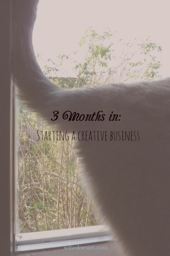 Pinterest 3 months in; starting a creative business